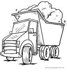 truck sand color pages coloring pages kids