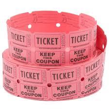 raffle tickets carnival king pink 2 part raffle tickets 2000 roll