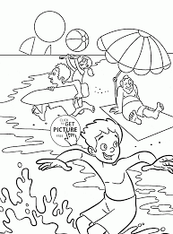 summer fun for kids coloring page for kids seasons coloring pages