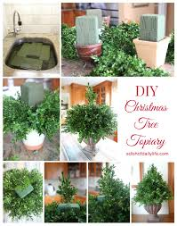 christmas topiary diy christmas tree topiary