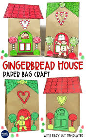 gingerbread house craft and gift bag gingerbread man activities