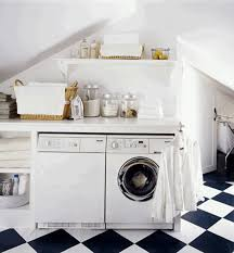 Modern White Bar Stool Laundry Rooms Design Smooth White Wooden Cabinet Modern White