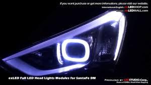 hyundai santa fe light replacement exled led headlights for santafe dm hyundai 2012 santafe
