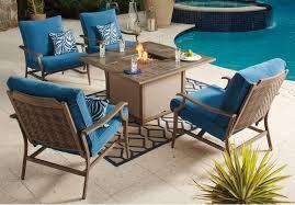 Ashley Furniture Patio Sets - signature design by ashley partanna 5 piece outdoor fire pit set