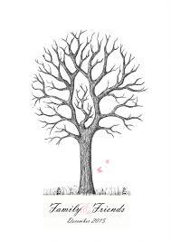Oak Tree Drawing Inked Oak Fingerprint Tree Guest Book Kit