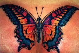 feminine chest tattoo design