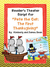 reader s theater script for pete the cat the thanksgiving