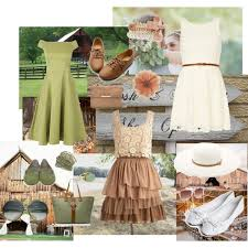 dress for barn wedding there are 3 in this set vertical a green one a one