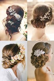 Hochsteckfrisurenen Hochzeit Mit Blumen by Frisuren Mit Blumen In Den Haaren Frisur Brautjungfer