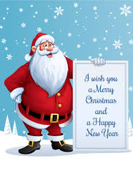 i wish you a merry santa card birthday