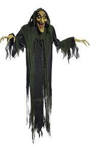 Scary Witch Halloween Costumes Amazon Hanging Witch 72 Inches Animated Halloween Prop