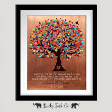 7 year anniversary gift ideas collection 7 year wedding anniversary gifts for pictures