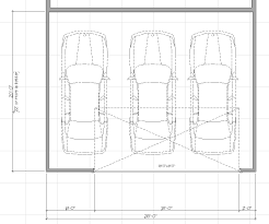 Double Car Garage Size Three Car 26ft Wide Garage Archive The Garage Journal Board