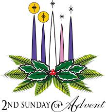 advent wreath candles 2nd sunday of advent candles and palm tree leaves clipart