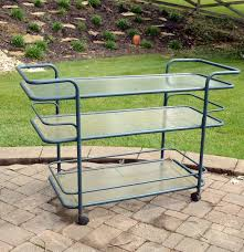 Brown And Jordan Vintage Patio Furniture by Vintage Brown Jordan Outdoor Serving Cart Ebth