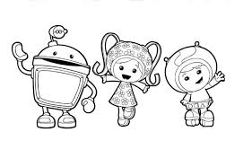 team umizoomi greeting guys coloring color luna