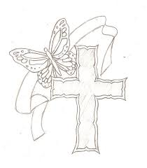 butterfly on cross tattoos for cross butterfly by