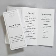 folded wedding program template robertwedding monogramtable numbersmenu fold program key west
