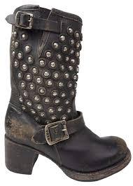 motorcycle booties frye black vera disc stud short leather motorcycle women s boots