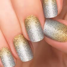 incoco nail polish strips glitter silver ombre nail art