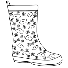 boot coloring page rain boots coloring page clipart panda free