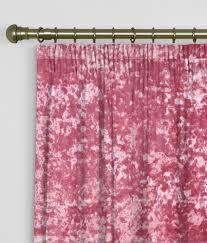 Pink Velvet Curtains Made To Measure Curtains Crush Velvet Carnation Crush Velvet