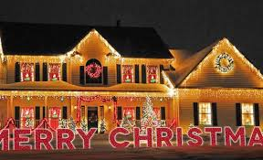 50 foot merry yard sign with led twinkle rope lights