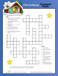 christmas nativity crossword puzzle worksheet education com