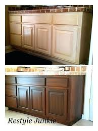kitchen cabinet stain ideas finished or unfinished kitchen cabinets stain painted stained cost