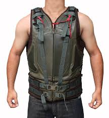 bane costume green mens leather vest best seller clothing