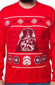 vader sleigh ugly faux sweater navidad christmas
