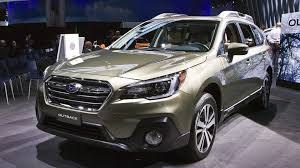 green subaru outback 2018 refreshed 2018 subaru outback makes north american debut