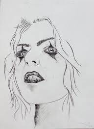 drawing of a woman by perspective on art on deviantart