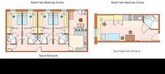 One Bedroom Flat In Preston Brunel Court Student Accommodation In Preston Lancashire