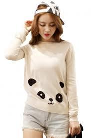 panda sweater panda knitted pullover sweater azbro com