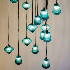 hanging glass pendant lights hand blown lighting glass bead pendant light by tom dixon hand blown