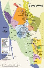 county map sonoma county wine country maps sonoma