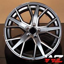 20 audi rims 20 inch rs6 style wheels gunmetal machined rims fits audi a3 s3 a4