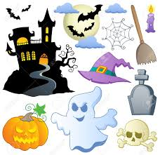 halloween theme collection 1 illustration royalty free cliparts