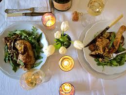 romantic setting for dinner table table for four caroll