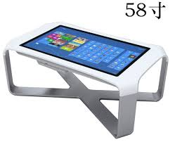 touch screen coffee table 4k display industrial pc interactive waterproof interactive multi