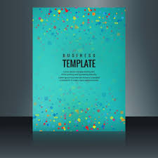 modern colorful brochure confetti vector free download