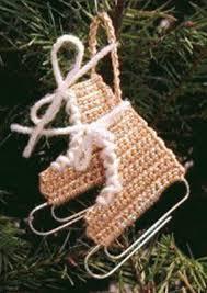 crochet miniature skate ornament miniature