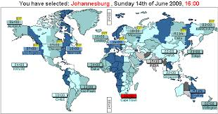 what time around the world when fifa 2009 confederations cup will