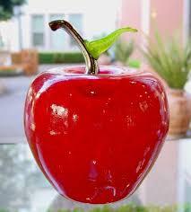 glass fruit apple oversized by cliff goodman design