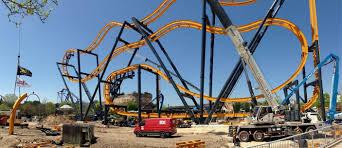 Six Flags San Antonio Batman Completed At Six Flags Fiesta Texas Coaster101