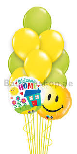 welcome home balloons delivery 14 balloons welcome home balloon bouquet delivery in dubai abu