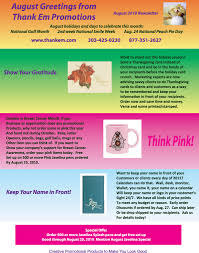 newsletter order promotional products