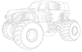 monster truck coloring pages coloring pages to print 27203