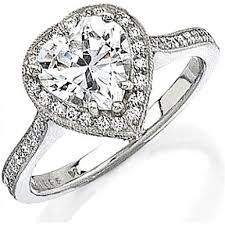 heart shaped diamond engagement ring stardust 55ct micro pave engagement ring for heart shaped diamond